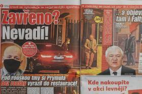 O Prymulově jednání informoval v pátek deník Blesk