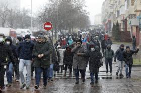Demonstrace v Bělorusku 29. 11.