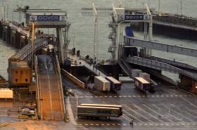 Uzavřený terminál v přístavu v Doveru