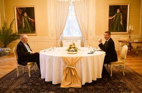 Prezident Miloš Zeman s premiérem Andrejem Babišem