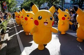 Pochod Pikachuů v japonské Jokohamě