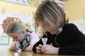Testování dětí ve školách (ilustrační foto)