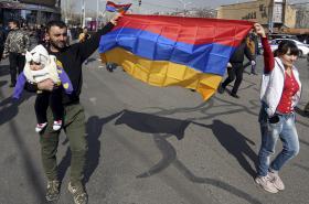 Demonstrace v Jerevanu