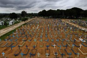 Letecký pohled na hřbitov v Manaus