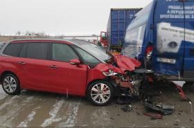 Následky hromadné nehody na D1