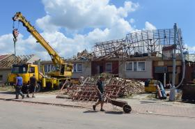 Likvidace následků katastrofy v Lužici na Hodonínsku