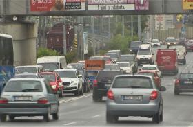 Provoz v ulici U Trati po uzavření Americké třídy v Plzni