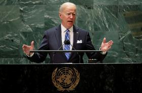 Biden při projevu před Valným shromážděním OSN