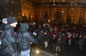 Protest proti Miloši Zemanovi