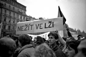 Demonstrace na Václavském náměstí 20.listopadu 1989