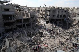 Pásmo Gazy zničené izraelskými útoky