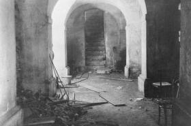 Krypta, kde se schovávali parašutisté