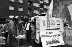 Volební stánek informační Solidarity