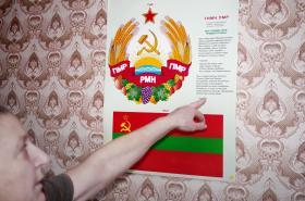 Státní znak a vlajka nezávislého Podněstří