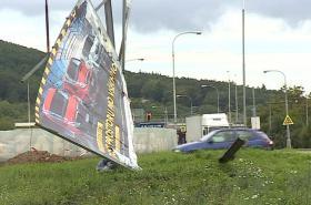 Poškozený billboard