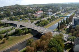 Řeka Ostravice v Ostravě