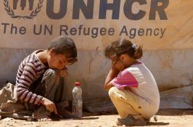 Syrské děti v jordánském uprchlickém táboře
