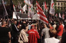 Demonstrace strany Jobbik