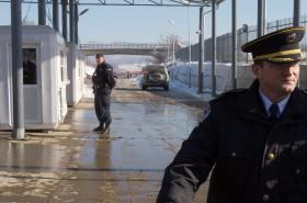 Srbsko-kosovský hraniční přechod Merdare
