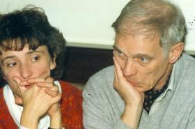 Manželé Medkovi ve Vídni v roce 1988
