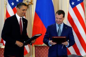 Barack Obama a Dmitrij Medvěděv v Praze (2010)