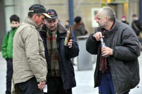 Pití alkoholu na ulici