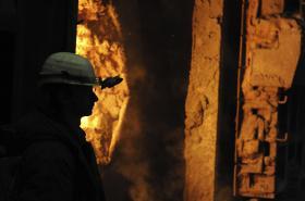 Zaměstnanec ocelárny Vítkovice Steel