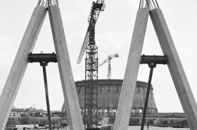 Stavba dukovanské jaderné elektrárny