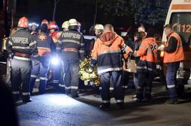 Výbuch v Bukurešti