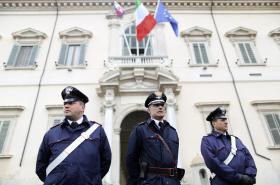 Italští policisté. Ilustrační foto.