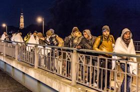 Uprchlíci na rakousko-německých hranicích