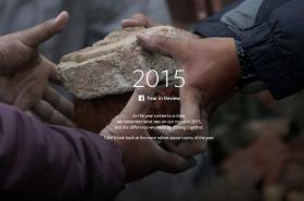 Rok 2015 očima facebooku