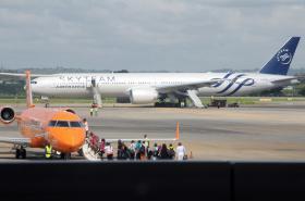 Letadlo společnosti Air France po nouzovém přistání na letišti v Mombase