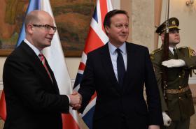Bohuslav Sobotka a David Cameron
