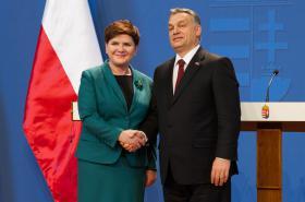 Beata Szydlová a Viktor Orbán