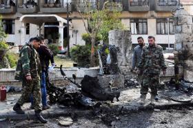 Následky bojů v Damašku
