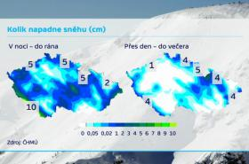 Kolik napadne sněhu