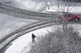 Sníh na ulici