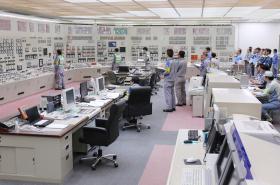 Velín jaderné elektrárny Sendai v japonské prefektuře Kagošima