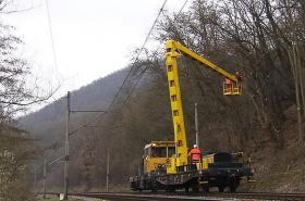 Kácení stromů podél tratí