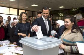 Bašár Asad odevzdal svůj hlas