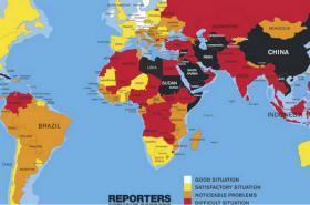 Grafika Reportérů bez hranic