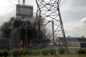 Požár v mělnické elektrárně