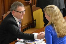 Lubomír Zaorálek a Kateřina Valachová