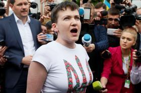 Naděžda Savčenková po návratu na Ukrajinu