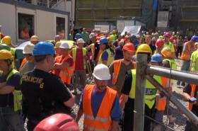 Kontrola zaměstnanců na stavbě