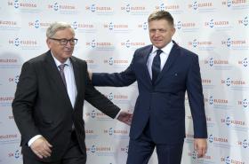 Jean-Claude Juncker a Robert Fico