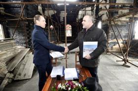 Podpis smlouvy o rekonstrukci Libušína