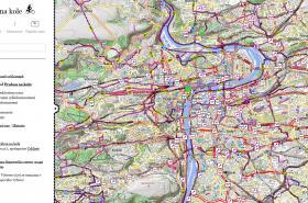 Mapa pro cyklisty