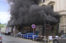 Požár v Mahenově divadle